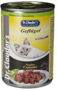 Dr. Clauder`s консервы для кошек с курицей 415г*20шт