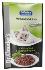 Dr. Clauder`s консервы для кошек с курицей и уткой 100г*20шт