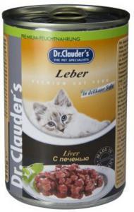 Dr. Clauder`s консервы для кошек с печенью 415г*20шт
