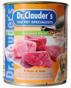 Dr. Clauder`s консервы для собак с индейкой и рисом / 800г*6шт
