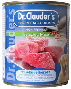 Dr. Clauder`s консервы для собак с куриным сердцем / 800г*6шт