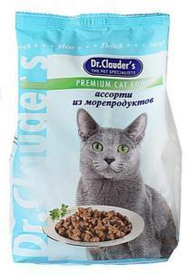 Dr. Clauder`s сухой корм для кошек ассорти из морепродуктов 15 кг