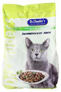 Dr. Clauder`s сухой корм для кошек Диетическое мясо 15 кг