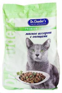 Dr. Clauder`s сухой корм для кошек мясное ассорти с овощами 15 кг