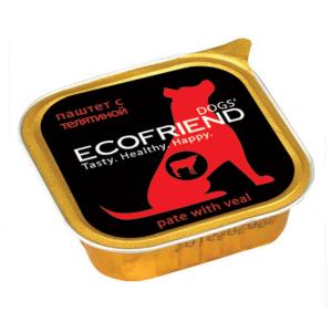 Ecofriend консервы для собак паштет с Телятиной 150г*11шт