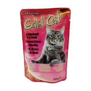 Edel Cat консервы для кошек с курицей и уткой 100 г (20 штук)