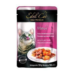 Edel Cat консервы для кошек с лососем и камбалой 100 г (20 штук)