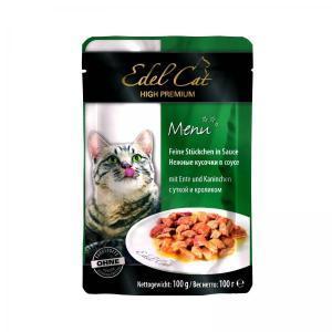 Edel Cat консервы для кошек с уткой и кроликом 100 г (20 штук)