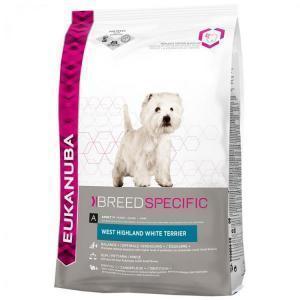 EUKANUBA Dog Breed Nutrition West Highland White Terrier сухой корм для вест-хайленд-уайт-терьерьеров и других небольших терьеров 7,5 кг