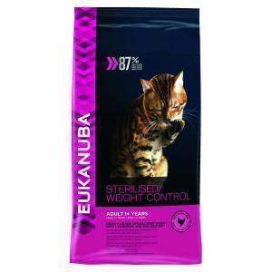 Eukanuba for overweight & sterilised cats сухой корм для стерилизованных или толстых кошек 10 кг