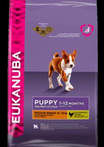Eukanuba Puppy Medium Breed сухой корм для щенков средних пород 15 кг