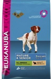 Eukanuba Adult Mature & Senior All Breeds Rich In Lamb & Rice сухой корм для пожилых собак Ягненок/рис 12 кг