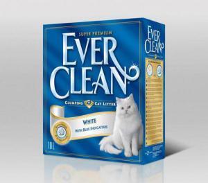 Ever Clean White наполнитель кошачьего туалета белый с гигиеническим индикатором