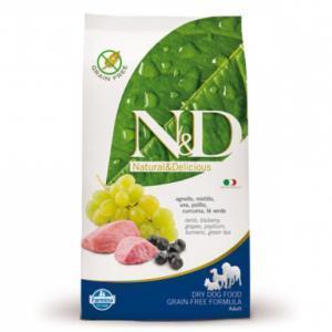 Farmina N&D Adult Dog беззерновой сухой корм для собак с ягненком и черникой 12 кг