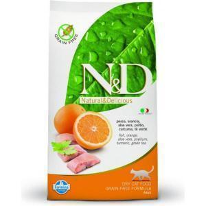 Farmina N&D Fish & Orange adult Cat сухой беззерновой корм для кошек с рыбой и апельсином 10 кг