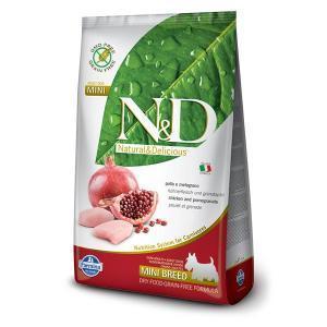 Farmina N&D GF Adult Mini беззерновой сухой корм с курицей и гранатом для собак маленьких пород 2,5 кг