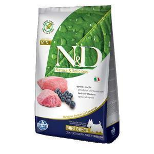 Farmina N&D GF Adult Mini беззерновой сухой корм с ягненком и черникой для собак маленьких пород 2,5 кг