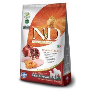 Farmina N&D GF Adult Medium & Maxi беззерновой сухой корм с тыквой и гранатом для собак средних и крупных пород 12 кг
