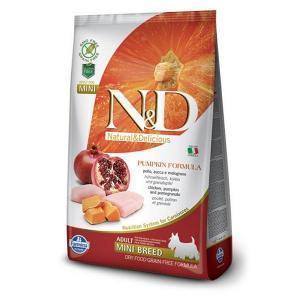 Farmina N&D GF Adult Mini беззерновой сухой корм с тыквой и гранатом для собак маленьких пород 7 кг