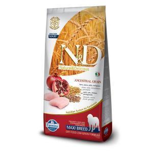 Farmina N&D Low Grain Adult Maxi низкозерновой сухой корм для крупных собак с курицей и гранатом 12 кг