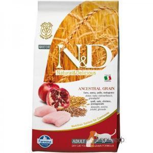 Farmina N&D Low Grain Cat Chicken & Pomegranate сухой корм с низким содержанием зерна для кошек с курицей и гранатом 10 кг