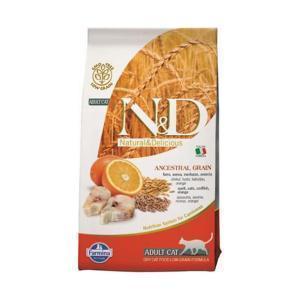 Farmina N&D Low Grain Cat Codfish & Orange сухой корм для кошек с рыбой и апельсином 10 кг