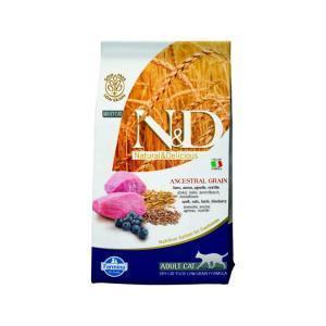 Farmina N&D Low Grain Cat Lamb & Blueberry сухой корм для кошек с ягненком и черникой 10 кг