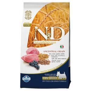 Farmina N&D Low Grain Adult Mini сухой низкозерновой корм для собак маленьких пород с ягненком и черникой 7 кг