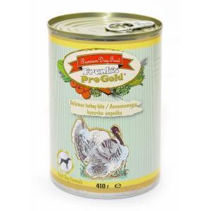 Frank's Progold Delicious turkey bits Adult Dog Recipe влажный корм для собак с индейкой 410 г