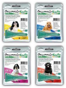 Frontline Combo капли на холку от блох и клещей для собак