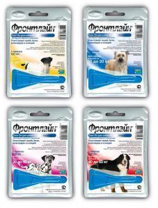 Frontline Spot-on капли на холку от блох и клещей для собак