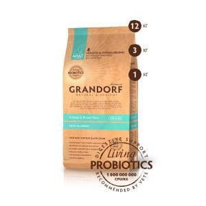 Grandorf 4 Meat & Brown Rice сухой корм для собак с низким содержанием зерна 4 вида мяса