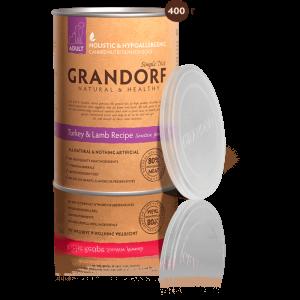 Grandorf Turkey and Lamb консервы с индейкой и ягненком 400 г