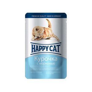Happy Cat Kitten консервы для котят с курицей и морковью 100 г (22 штуки)