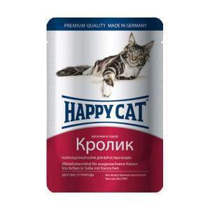 Happy Cat консервы для кошек с кроликом 100 г (22 штуки)