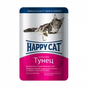 Happy Cat консервы для кошек с тунцом 100 г (22 штуки)