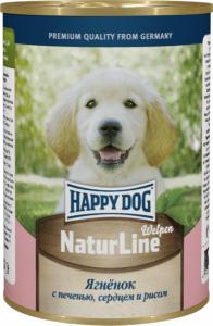 Happy Dog консервы для щенков с ягненком, сердцем, печенью и рисом 400г