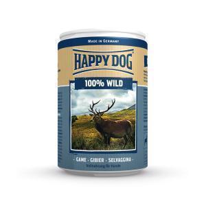 Happy Dog консервы для собак Дичь 100% мясо 400 г
