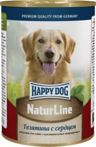 Happy Dog консервы для собак с телятиной и сердцем 400г