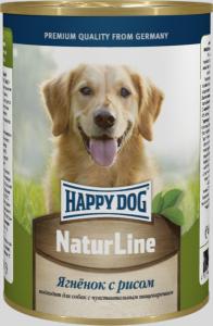 Happy Dog консервы для собак с ягненком и рисом 400г