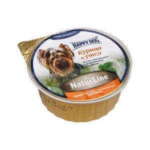 Happy Dog паштет для собак с курицей и уткой 125 г (16 штук)