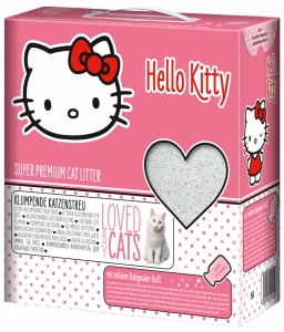 Hello Kitty наполнитель для кошачьего туалета с ароматом детской присыпки