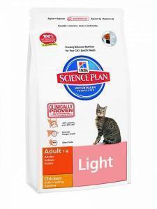 Hill's Feline Adult Light Chicken сухой облегченный корм для кошек с курицей 10 кг