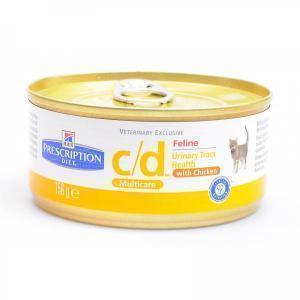 Hills Feline c/d лечебные консервы для кошек при МКБ со струвитами 156 г