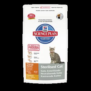 Hills Feline Young Adult Sterilised Cat сухой корм для стерилизованных кошек