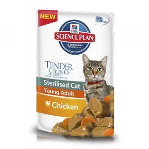 Hills Feline Young Adult Sterilised with Chicken консервы для стерилизованных кошек с курицей 85 г (12 штук)