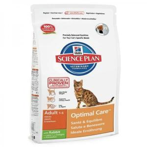 Hill's Science Plan Feline Adult Optimal Care with Rabbit сухой корм для кошек с кроликом