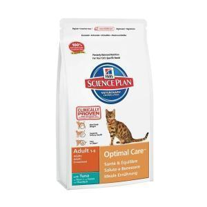 Hill's Science Plan Feline Adult Optimal Care with Tuna сухой корм для кошек с тунцом