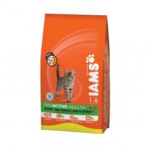 IAMS Cat Adult with Lamb сухой корм для кошек с ягненком