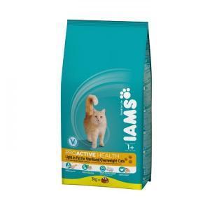 IAMS Cat Light Rich in Chicken сухой облегченный корм для кошек с курицей 10 кг